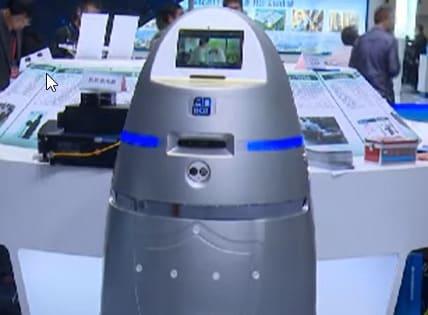 Robot Anbot, un policía en el aeropuerto del país asiático